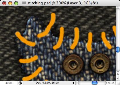 Stitching - making of - Step 15