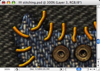 Stitching - making of - Step 19