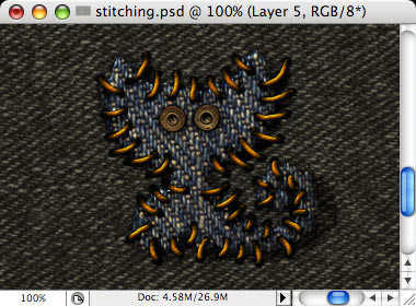 Stitching - making of - Step 24