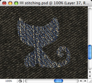 Stitching - making of - Step 6