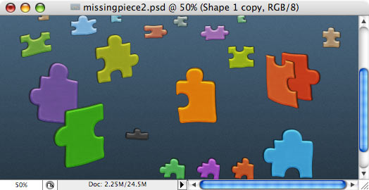 Missing Piece - making of - Step 9