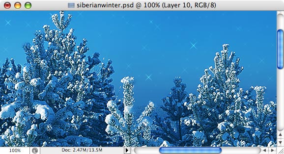 Siberian Winter - making of  - Step 11
