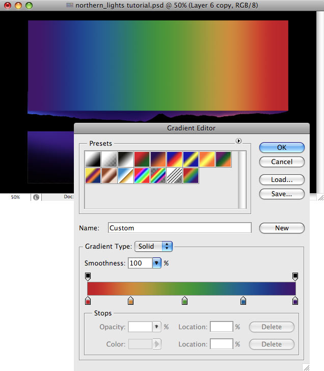 Design a colorful Northern Lights landscape - Step 10