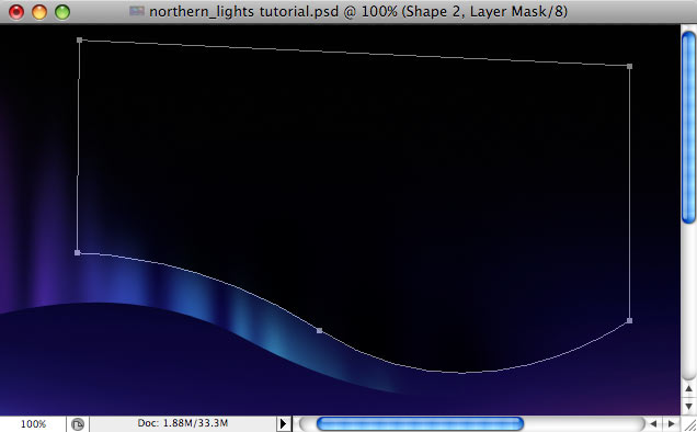 Design a colorful Northern Lights landscape - Step 17