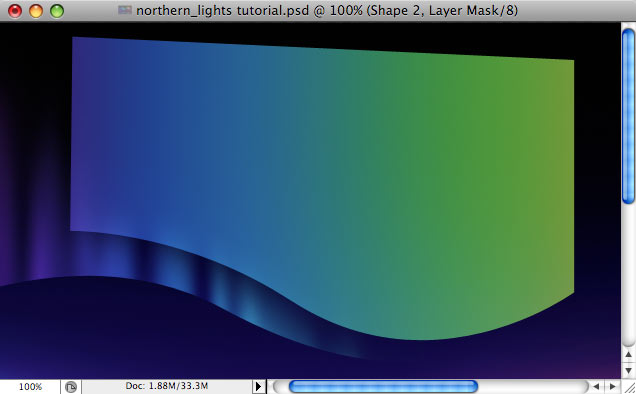 Design a colorful Northern Lights landscape - Step 19