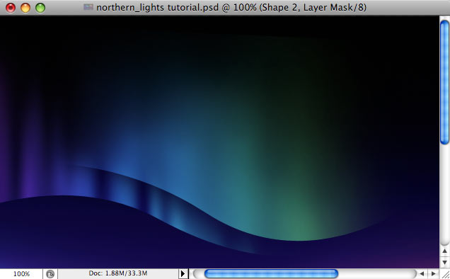 Design a colorful Northern Lights landscape - Step 20