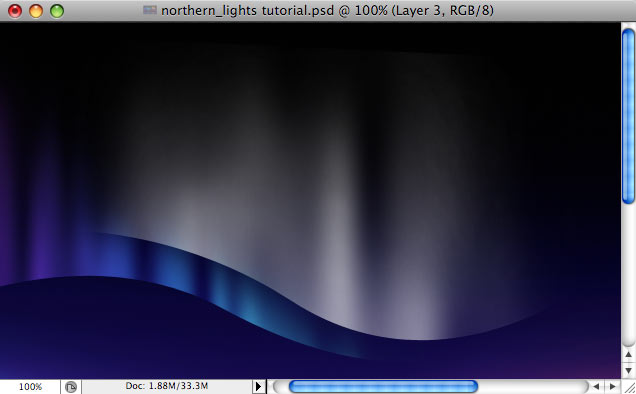 Design a colorful Northern Lights landscape - Step 22