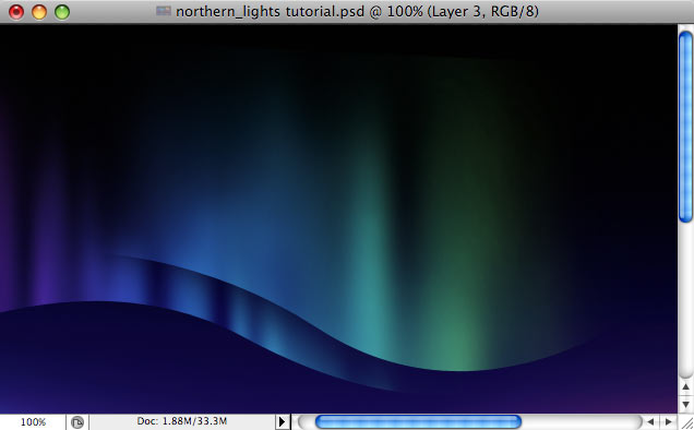 Design a colorful Northern Lights landscape - Step 23