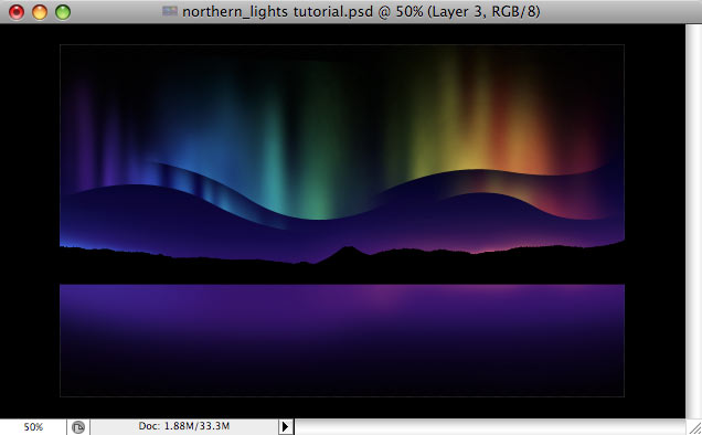 Design a colorful Northern Lights landscape - Step 24