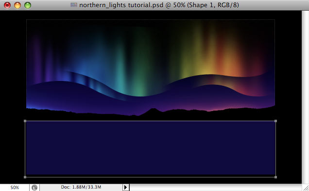 Design a colorful Northern Lights landscape - Step 25