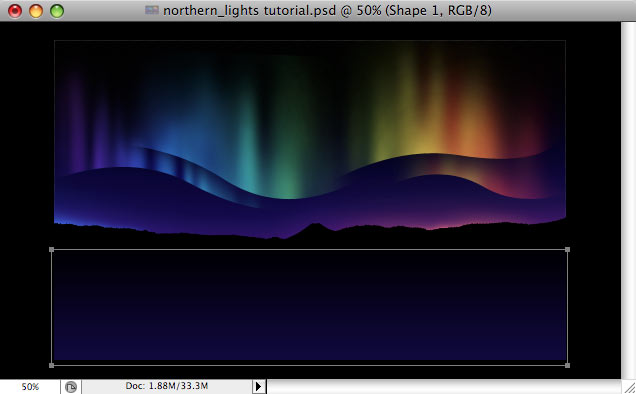 Design a colorful Northern Lights landscape - Step 26