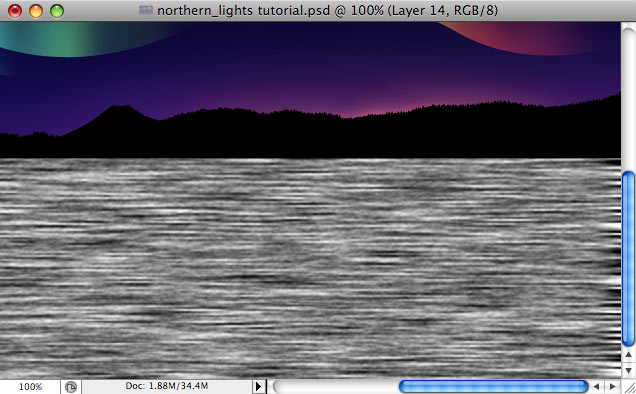 Design a colorful Northern Lights landscape - Step 29