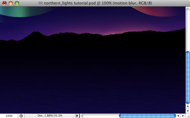Design a colorful Northern Lights landscape - Step 31