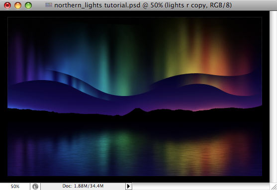 Design a colorful Northern Lights landscape - Step 35