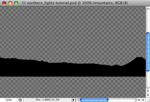 Design a colorful Northern Lights landscape - Step 4