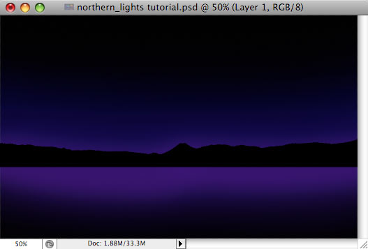 Design a colorful Northern Lights landscape - Step 6