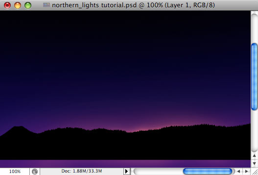 Design a colorful Northern Lights landscape - Step 7