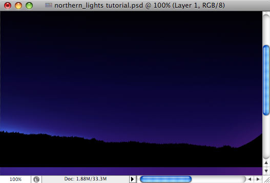 Design a colorful Northern Lights landscape - Step 8