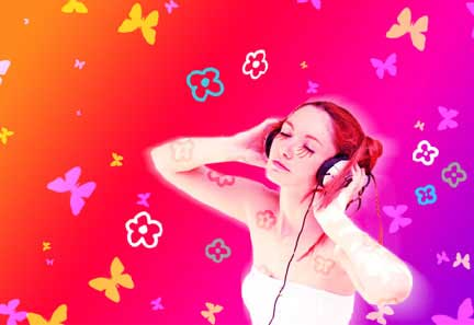 Music girls photo effect in adobe photoshop cs