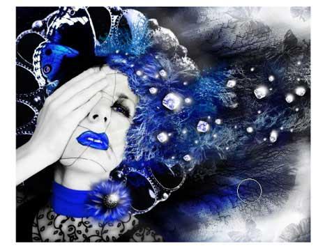 Snow Queen photo effect in adobe photoshop cs