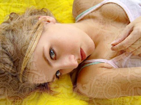 yellow portrait photo effect in adobe Photoshop cs2