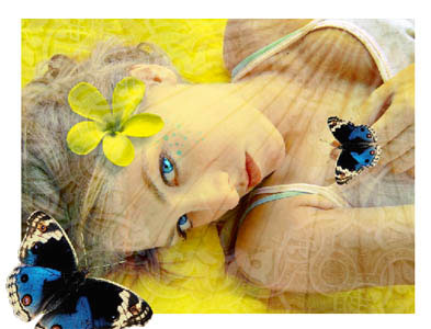yellow portrait photo effect in adobe Photoshop cs2