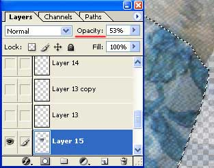 how to delete part of one layer and photoshopo