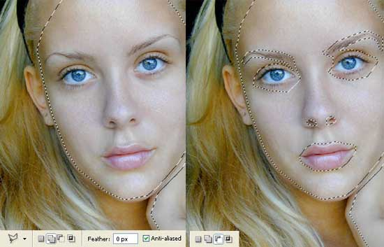 glamour model picture retouch in adobe Photoshop cs2