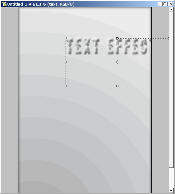 Light gray text effects