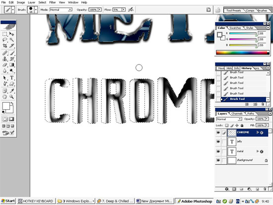 Metal,Chrome and Jelly Text Effects