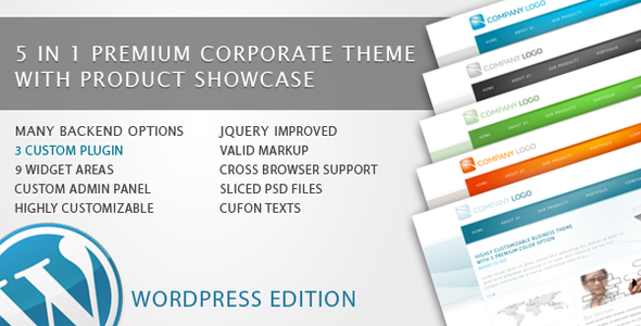 RT-Theme 6 Bussiness Theme 5 in 1 For WordPress