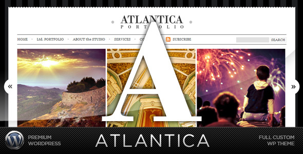 Atlantica (WordPress) - Premium Portfolio Template