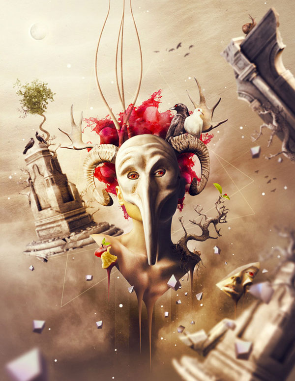 Surreal artworks by Romel Belga