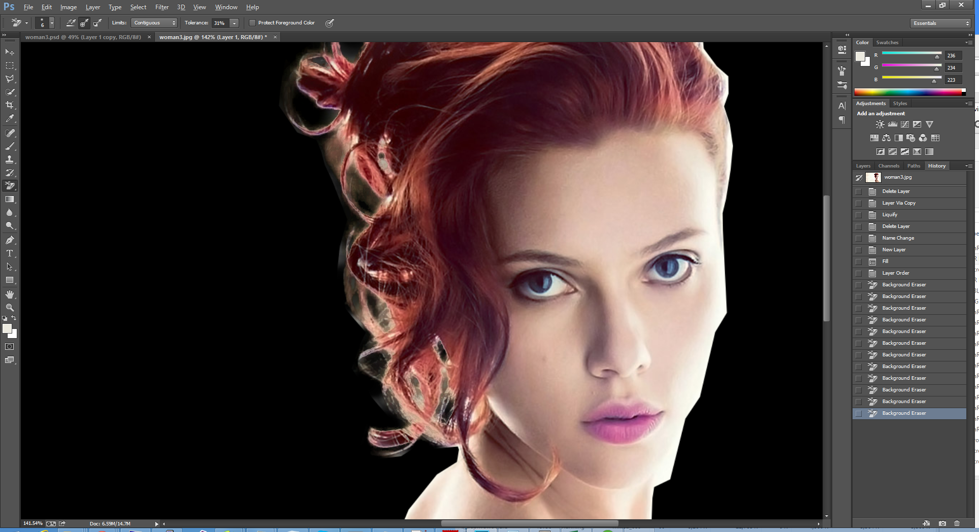 Dispersion effect with photoshop cs6cc photoshop tutorials clean up her hair baditri Images