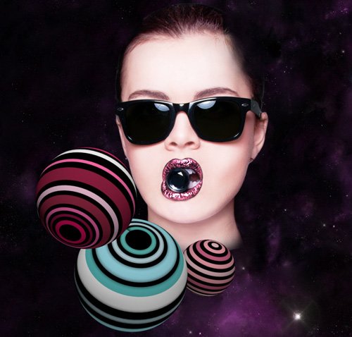 Mixing 3D Elements and Photography to Create a Vibrant and Playful Photomontage