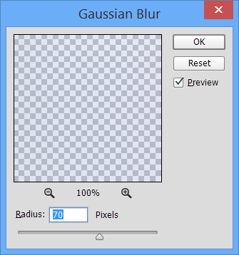 how to make gaussian blur over image
